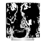 Dog Abstract Black And White Shower Curtain