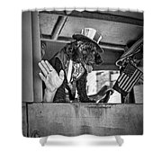 Dog On The Campaign Trail Shower Curtain