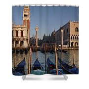 Doges Palace And San Marcos Bell Tower Shower Curtain