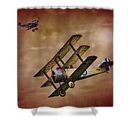 Dogfight 1918 Shower Curtain