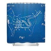 Doggie Vacuum Patent Artwork Shower Curtain