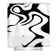 Doggy Style Black On White Shower Curtain