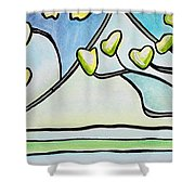 Dogwood Stained Glass I Shower Curtain
