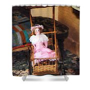 Doll In Carriage Shower Curtain