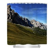 Dolomiti's Panoramic Shower Curtain