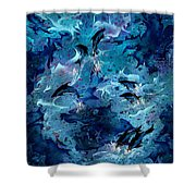 Dolphin Enchantment Shower Curtain