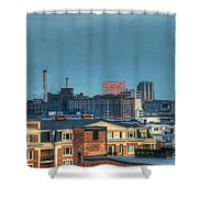 Domino Sugars Sign Day Shower Curtain