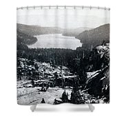 Donner Lake - California - C 1865 Shower Curtain