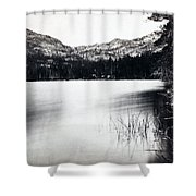Donner Lake And Pass - California - C 1865 Shower Curtain