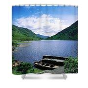 Doo Lough, Delphi, Co Mayo, Ireland Shower Curtain