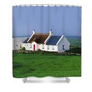Doolin, Co Clare, Ireland Renovated Shower Curtain