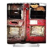 Door Shower Curtain by Katie Cupcakes