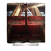 Door Top In Philadelphia Shower Curtain by Katie Cupcakes