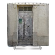 Door With Green Mailbox Shower Curtain
