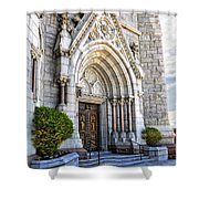 Doorway Sacred Heart Cathedral Shower Curtain