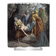 Burial Of Jesus Shower Curtain
