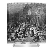 Dor�: London, 1872 Shower Curtain