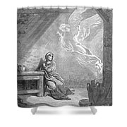 Dor�: The Annunciation Shower Curtain
