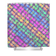 Dotted Check Shower Curtain by Louisa Knight