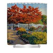 Dotti's Garden Autumn Shower Curtain