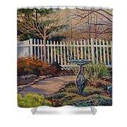 Dotti's Garden Winter Shower Curtain