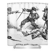 Double Duel Shower Curtain