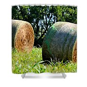 Double Hay Rolls Shower Curtain