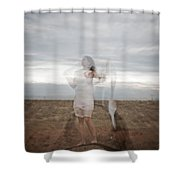 Double Image Ghost Shower Curtain