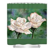 Double Roses Shower Curtain