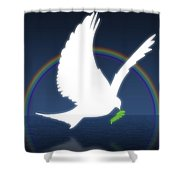 Dove Holding An Olive Branch With Shower Curtain