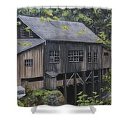 Down By The Old Mill Stream Shower Curtain