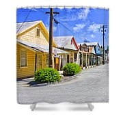 Down On Main Street Shower Curtain