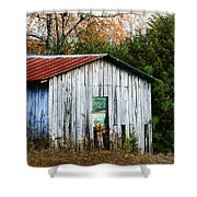 Down On The Farm - Old Shed Shower Curtain