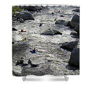 Down The Feather River Shower Curtain