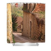 Down The Lane In Beynac France Shower Curtain