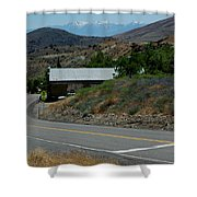 Down The Silver Road Shower Curtain