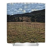 Down The Valley Shower Curtain