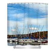 Down To The Docks Shower Curtain