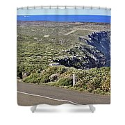 Down To The Rocks Shower Curtain