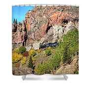 Down Windy Point Shower Curtain