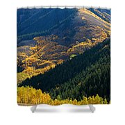 Downhill Flow Shower Curtain