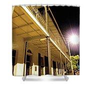 Downtown Balcony Baton Rouge Shower Curtain
