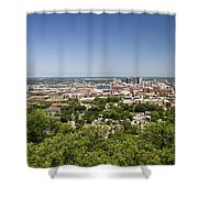Downtown Birmingham Alabama On A Clear Day Shower Curtain