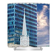 Downtown Blues Shower Curtain