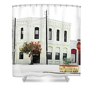 Downtown Flouresville Texas Shower Curtain