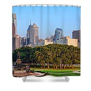 Downtown Philadelphia Skyline Shower Curtain