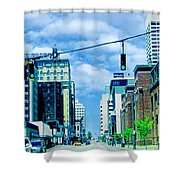 Downtown Union Ave Memphis Tn Shower Curtain