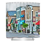 Downtown Waterville Shower Curtain