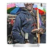 Dr. Luv In Jackson Square Shower Curtain