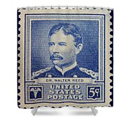 Dr Walter Reed Postage Stamp Shower Curtain